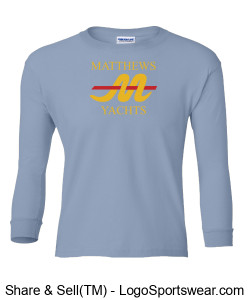 Matthews Youth Cotton Long Sleeve T-Shirt Design Zoom