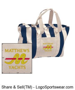 Matthews Large Striped Canvas Tote Design Zoom